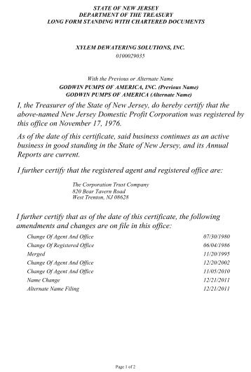 Certificate of Good Standing as a Treatment Provider for Impaired ...