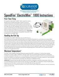 SpeedFire® ElectricMini™ 1800 Instructions - Rio Grande