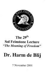 Dr. Harm de Bli - USMA Library Digital Collections