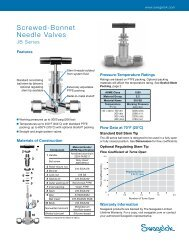 Screwed-Bonnet Needle Valves, JB Series (MS-01-84 ... - Swagelok
