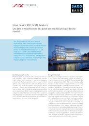 Saxo Bank e VDF di SIX Telekurs