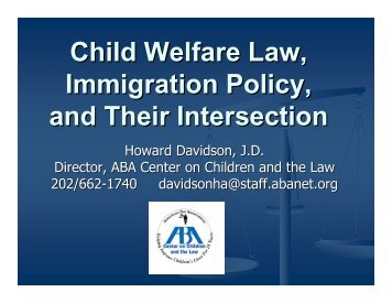 Child Welfare Law, Immigration Policy, and Their Intersection (June ...