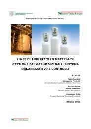 linee di indirizzo in materia di gestione dei gas medicinali - Saluter