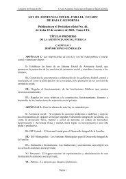 LEY DE ASISTENCIA SOCIAL PARA EL ESTADO - Tijuana