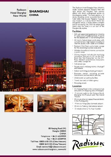 Hotel Fact Sheet - Radisson.com