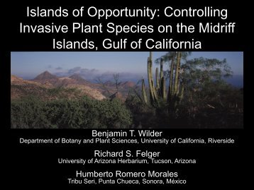 Islands of Opportunity: Controlling Invasive Plant Species on the ...