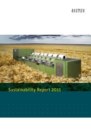 Sustainability Report 2011 - Rieter