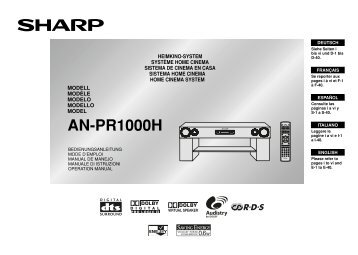 AN-PR1000H Operation-Manual GB - Sharp
