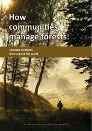 How communities manage forests.pdf - Helvetas