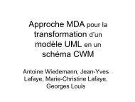Approche MDA pour la transformation d'un modèle UML en un ...