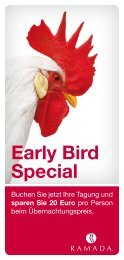 Early Bird Special - Ramada Hotels
