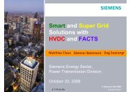 Smart and Super Grid Solutions with HVDC and FACTS - Siemens
