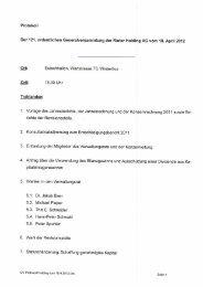 Protokoll - Rieter