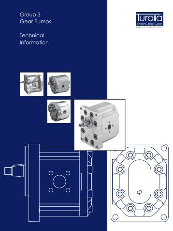 Group 3 Gear Pumps Technical Information - Sauer-Danfoss