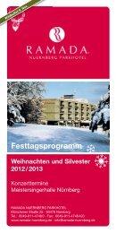 Festtagsprogramm Weihnachten und Silvester 2012 / 2013
