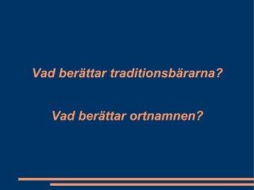 Vad berättar ortnamnen? - Saemieh Saepmesne – I det samiska ...