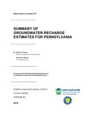 Summary of groundwater-recharge estimates for Pennsylvania