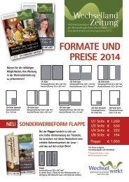 WLZ Anzeigenformate 2014 - Wirtschaftsplattform Wechselland