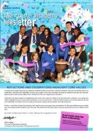 Manchester Academy Newsletter | Summer, 2011: Issue 14