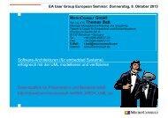 Embedded Software-Architecturen erfolgreich mit der UML ...