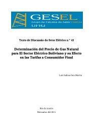 Determinación del Precio de Gas Natural para El ... - Nuca - UFRJ