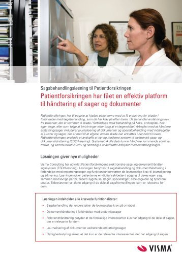 Download referencen om Patientforsikringen som PDF fil her - Visma