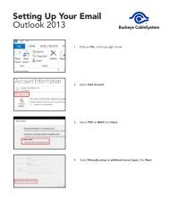 Setting Up Your Email Outlook 2013 - Buckeye CableSystem