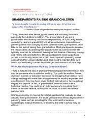 GRANDPARENTS RAISING GRANDCHILDREN - CornellCARES.com