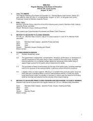 MINUTES Regular Meeting of the Board of Education District 201 ...