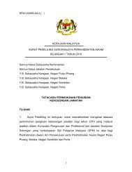 1 SPA:U/2400/Jld.4 ( ) KERAJAAN MALAYSIA SURAT PEKELILING ...