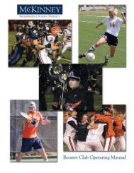 Booster Club Contact Information - McKinney Independent School ...