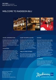 Hotel Brochure - Radisson Blu