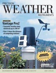Precision Weather Instruments Davis Catalog 2005 - Electric ...