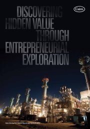 2011 Annual Report - Cairn Energy PLC