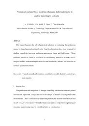 Numerical and analytical modeling of ground deformations due to ...