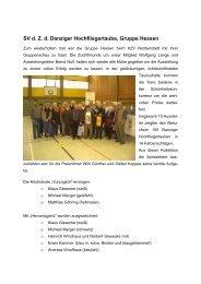 SV d. Z. d. Danziger Hochfliegertaube, Gruppe Hessen - SV der ...