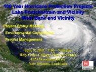 100 Year Hurricane Protection Projects Lake Pontchartrain - NOLA ...