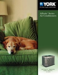 York Affinity 8T Series CZH 18+ SEER Air Conditioners ... - UPGNet