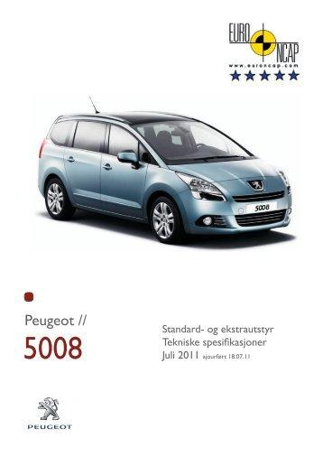 Dimensjoner - Peugeot