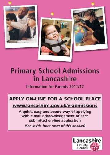 Primary School Admissions in Lancashire - Lancashire County ...