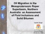 Vashti Singh - Oil Migration in the Mesoproterozoic Roper ...