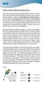 Guía de Aves Parque Nacional Montecristo - Ministerio de Medio ... - Page 2