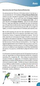 Guía de Aves Parque Nacional Montecristo - Ministerio de Medio ... - Page 3