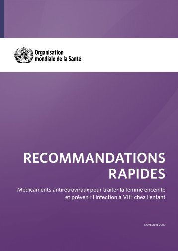 OMS : Recommandations rapides - Esther