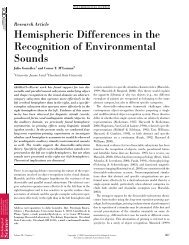 Hemispheric Differences in the Recognition of ... - It works!