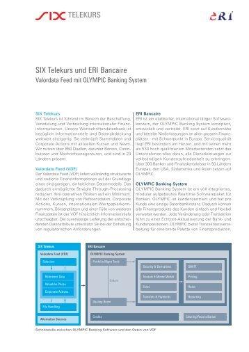 SIX Telekurs und ERI Bancaire - SIX Financial Information