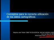 Conceptos para la correcta utilización de los datos ... - Gbif.es