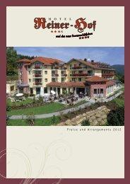 Pauschalangebote - Hotel Reiner-Hof