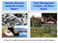 Indicator Bacteria: Sentinels of Safe Water? Think Management ...