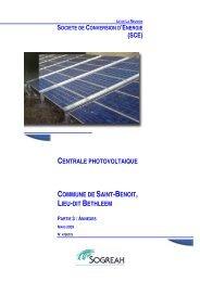 centrale photovoltaique commune de saint-benoit, lieu-dit bethleem